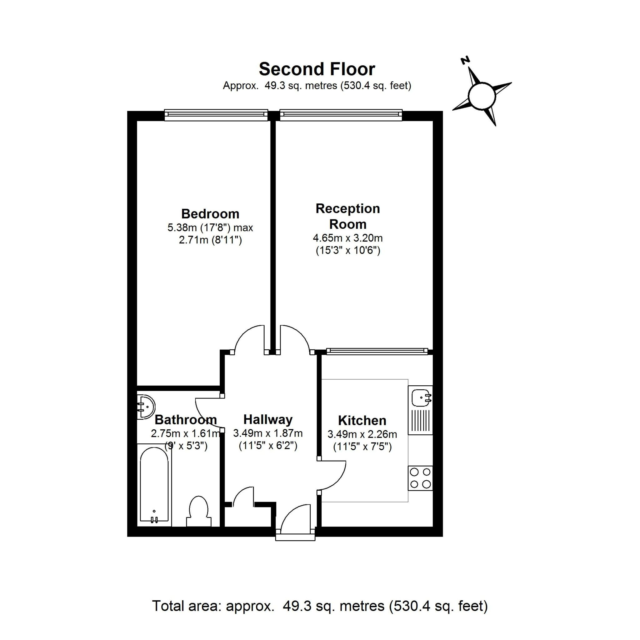 London Academic Apartment Rental - Ground Plan